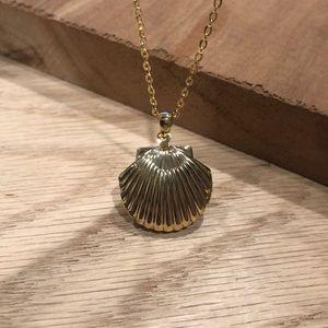 ModCloth Seashell Locket Necklace